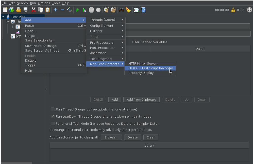 HTTP(S) Test Script Recorderを作成